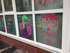 Live Painting at Bside fest 2018 illustration münster graffiti fixie bike