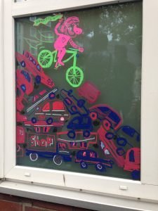 Live Painting at Bside fest 2018 illustration münster graffiti fixie bike