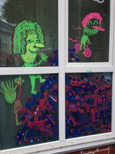 Live Painting at Bside fest 2018 illustration münster graffiti