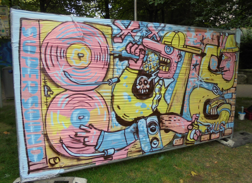 graffiti paderborn comic lustig represent 4 elements